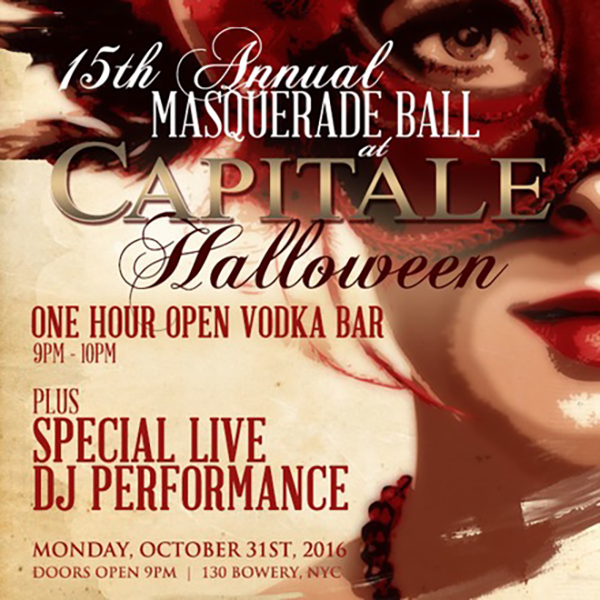 capitale new york halloween 2016 masquerade ball flyer b